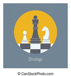 płaski, handlowa ilustracja, strategia