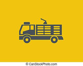 płaski, przewóz, ikona