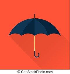 płaski, wektor, parasol, ikona