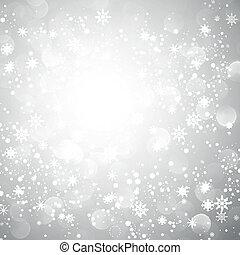 płatek śniegu, boże narodzenie, tło, srebro