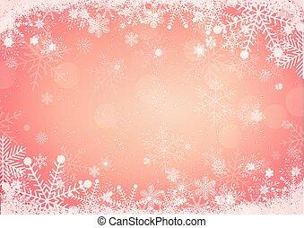 płatek śniegu, brzeg, górki, tło, śnieg