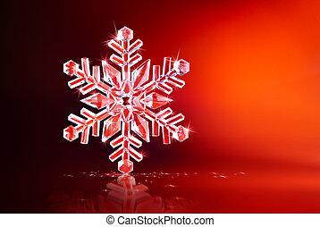 płatek śniegu, iskrzasty