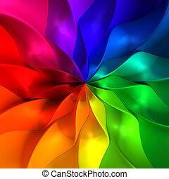 płatek, abstrakcyjny, barwny, ilustracja, tło