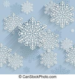 płatki śniegu, wektor, ilustracja