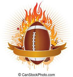 płomienie, piłka nożna, ameryka