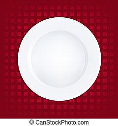 płyta, biały czerwony, tło