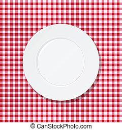 płyta, biały, tablecloth