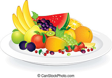 płyta, owoce