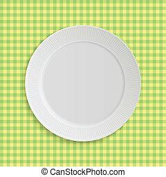 płyta, tablecloth, wektor