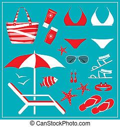 pływacki dostosowują, komplet, modny