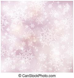 p, zima, miękki, boże narodzenie, mglisto