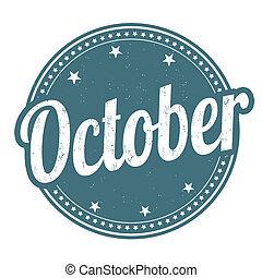 październik, tłoczyć