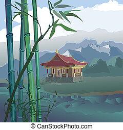 pagoda, rzeka