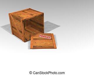 paka, drewniany