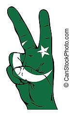pakistani bandera, pokój znaczą