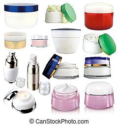 pakuje, kosmetyki, różny, %u2013, śmietanka
