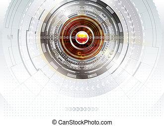 palcowe tło, technologia