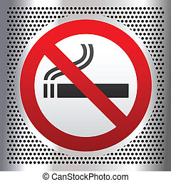 palenie, symbol, chrom, tło, nie