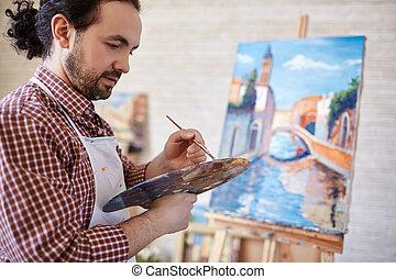 paleta, artysta