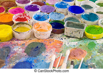 paleta, szczotki, artist?s