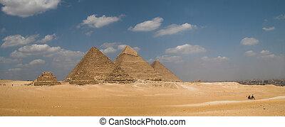 panorama, piramidy