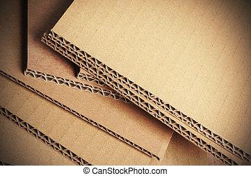 panwiowy, karton, tło, szczegół, tektura