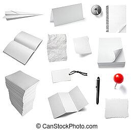papier listowy, biuro, notatnik, dokument