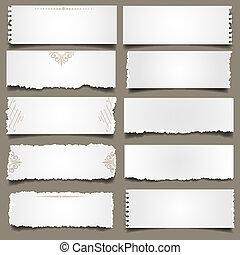 papier notatnik, dziesięć