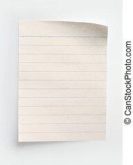 papier, notatnik, liniowany