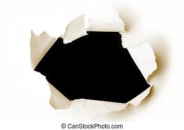 papier, otwór