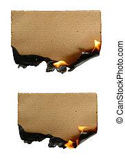 papier, płonący