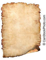 papier, pergamin, tło