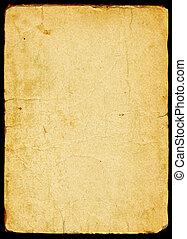 papier, stary, textured
