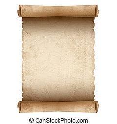 papier, stary, wektor, woluta