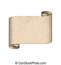 papier, stary, woluta