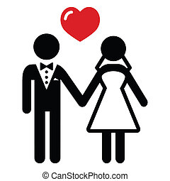 para, żonaty, ślub, ikona