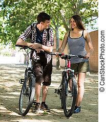 para, bicycles, młody