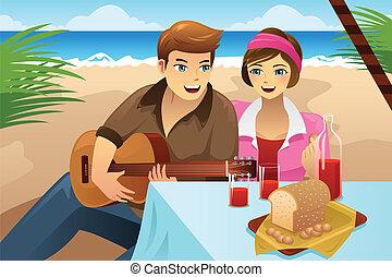 para, piknik, posiadanie