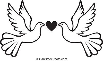 para, serce, gołębice
