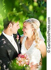 para, szczęśliwy, ślub