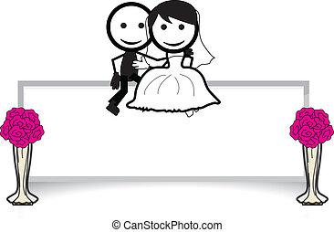 para, wtykać figurę, ślub