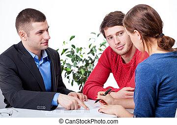 para, znacząc, hipoteka, porozumienie