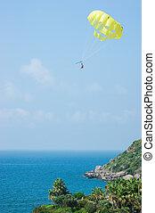 parasailing, motyw morski