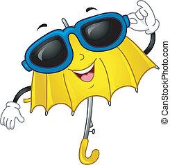 parasol, maskotka