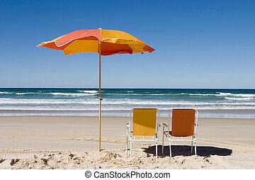 parasol plażowy, barwny