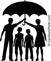 parasol, ryzyko, rodzina, rodzice, dzierżawa, bezpieczeństwo, ubezpieczenie