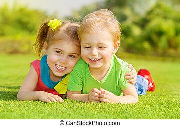 park, dzieci, szczęśliwy