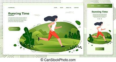 park, krzyż, ilustracja, platforma, wyścigi, wektor