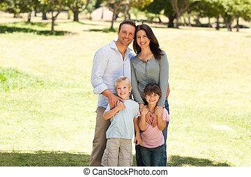 park, rodzinny portret