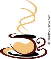 parowanie, gorąca kawa, filiżanka
